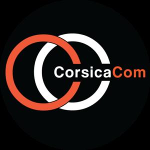 CorsicaCom Agence Media Regie Publicitaire Publicite Corse Logo Medaillon Noir