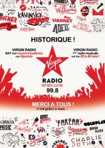 CorsicaCom-Agence média-régie publicitaire-publicité Corse – virgin radio 1ère musicale sur Ajaccio
