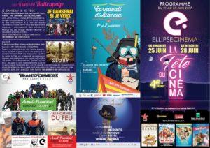 CorsicaCom-Agence média et régie publicitaire-publicité au cinéma Corse-projection-film-cinema programme hebdomadaire Visuel programme du Carnaval