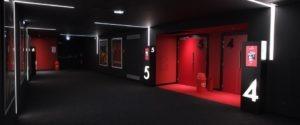 CorsicaCom-Agence média et régie publicitaire-publicité au cinéma Corse-cinema ellipse- couloir